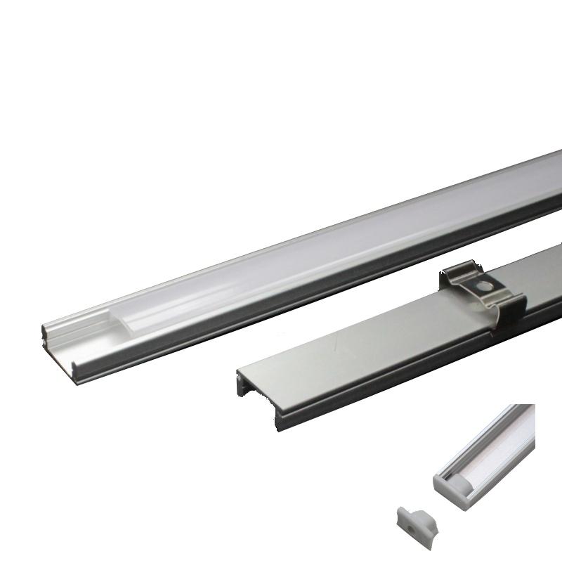 1m aluminium profil eloxiert f r led strip alu profile. Black Bedroom Furniture Sets. Home Design Ideas