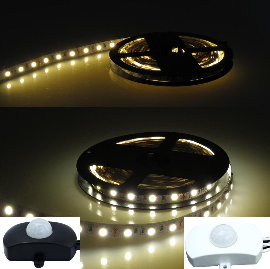 led stripe 2700k 4000k wei 5050 smd 1 5m lichtleiste streifen bewegungsmelder ebay. Black Bedroom Furniture Sets. Home Design Ideas