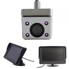 Unterbau Rückfahrkamera chrom mit 4.3 Monitor