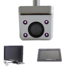Unterbau Rückfahrkamera chrom mit 7 Monitor