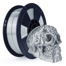 3D Filament 1,75mm PLA Silk Silber 0,5 kg