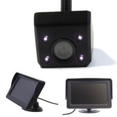 Unterbau Rückfahrkamera schwarz mit 4.3 Monitor Standfuß