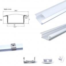 Aluminium Profil Fuge-flach