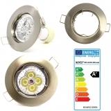 LED Einbaustrahler gebürstet rund GU10 4W