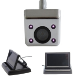 Unterbau Rückfahrkamera chrom mit 4.3 Monitor klappbar