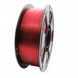 3D Filament 1,75mm PLA Transparent Rot 1kg