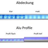 Aluminium Profil U-tief
