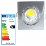 LED Einbaustrahler gebürstet  eckig schwenkbar GU10 5W